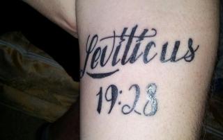 October 2014 baildon methodist church for Leviticus on tattoos