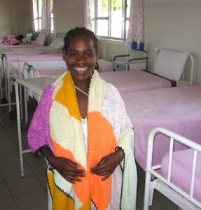 Fistular patient and blanket