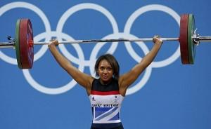 Girl weightlifter