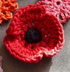 Poppies Crocheted