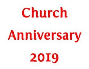 Church Anniversary 2019